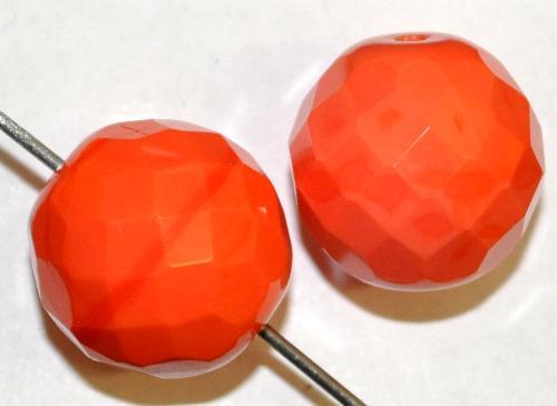 Best.Nr.:26661 facettierte Glasperlen,  orange opak,  hergestellt in Gablonz / Tschechien