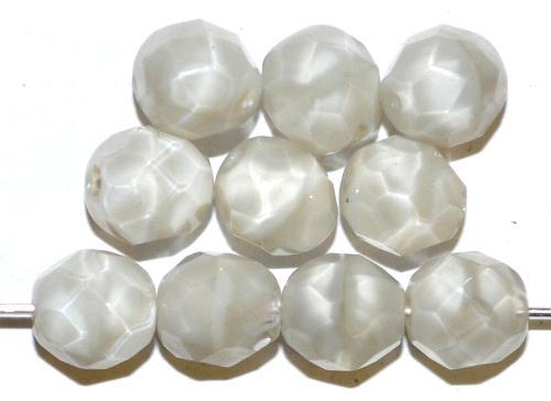Best.Nr.:26731 facettierte Glasperlen  Perlettglas hellgrau,  hergestellt in Gablonz / Tschechien