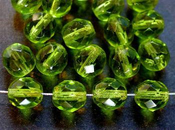 Best.Nr.:27046 facettierte Glasperlen grün