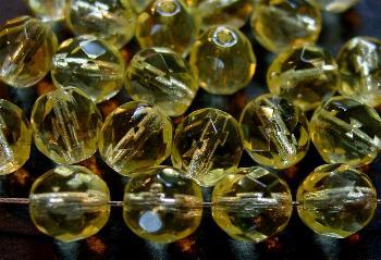 Best.Nr.:27051 facettierte Glasperlen  hellgelb