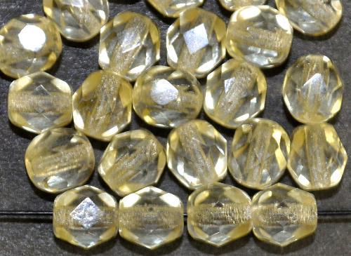 Best.Nr.:27055 facettierte Glasperlen champagner transp., hergestellt in Gablonz / Tschechien