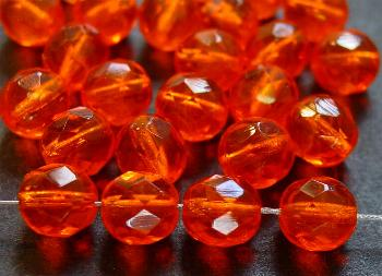 Best.Nr.:27109 facettierte Glasperlen orange transp.