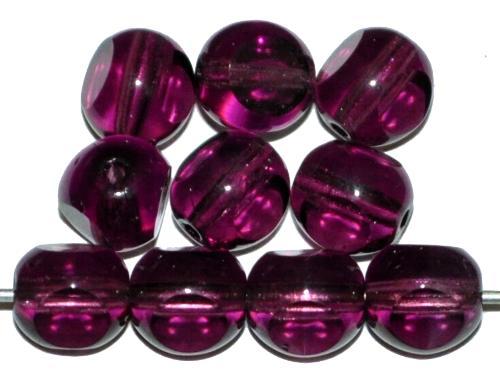 Best.Nr.:27225 Glasperlen 3 Seiten geschliffen,  violett transp., hergestellt in Gablonz / Tschechien