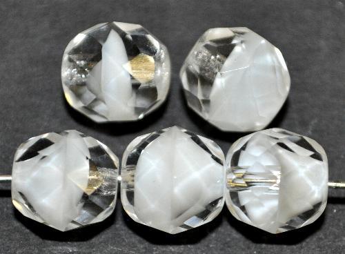 Best.Nr.:27270 facettierte Glasperlen  kristall weiß,  hergestellt in Gablonz / Tschechien