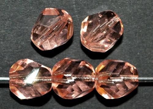 Best.Nr.:27313 geschliffene Glasperlen  apricot transp.,   hergestellt in Gablonz / Tschechien