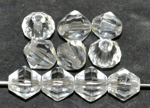 Best.Nr.:27333 facettierte Glasperlen bicon kristall, hergestellt in Gablonz / Tschechien