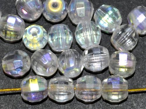 Best.Nr.:27546 geschliffene Glasperlen kristall mit AB und längsschliff, hergestellt in Gablonz / Tschechien