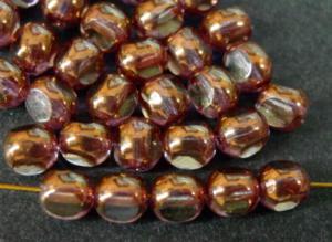 Best.Nr.:28402 Glasperlen, kristall bronziert 3 Seiten geschliffen, hergestellt in Gablonz / Tschechien