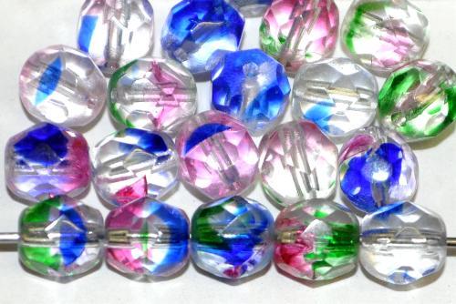 Best.Nr.:27607 facettierte Glasperlen  Harlekin beads,  hergestellt in Gablonz / Tschechien