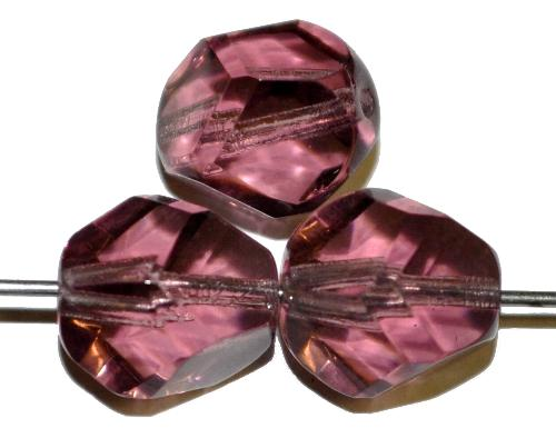 Best.Nr.:27610 geschliffene Glasperlen  french violett transp.,  hergestellt in Gablonz / Tschechie