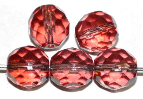 Best.Nr.:27634 facettierte Glasperlen french violett transp., hergestellt in Gablonz / Tschechien