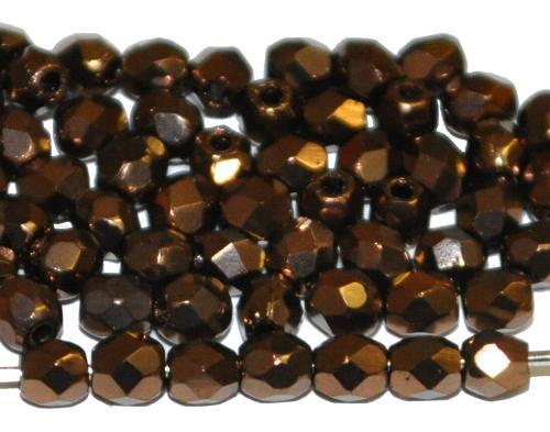 Best.Nr.:28070 facettierte Glasperlen  bronzefarben, hergestellt in Gablonz / Tschechien