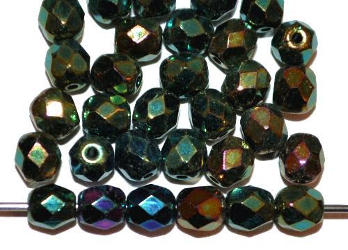 Best.Nr.:28073 facettierte Glasperlen,  metallic finish,  hergestellt in Gablonz / Tschechien
