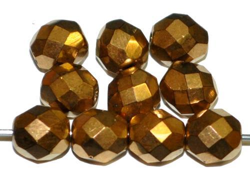 Best.Nr.:28080 facettierte Glasperlen messingfarben, hergestellt in Gablonz / Tschechien