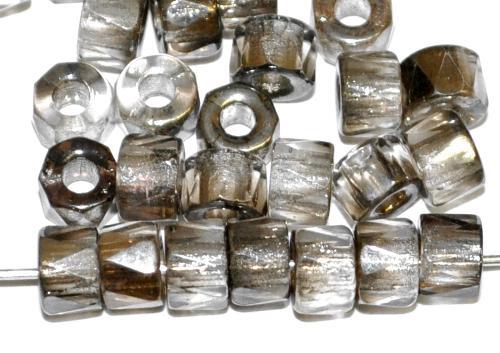 Best.Nr.:28179 Glasperlen facettiert blackdiamond mit Platin Veredelung, hergestellt in Gablonz / Tschechien