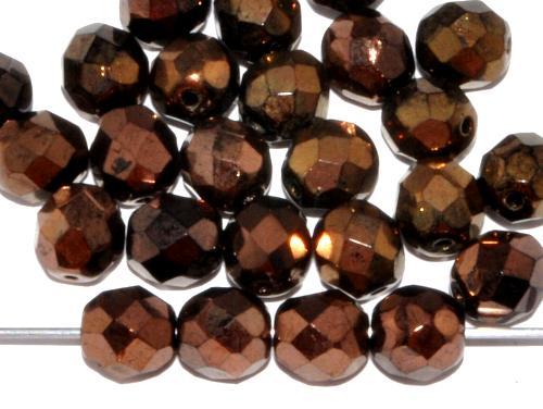 Best.Nr.:28209 facettierte Glasperlen metallic bronze,  hergestellt in Gablonz / Tschechien