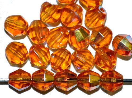 Best.Nr.:28239 Glasperlen bicon facettiert topas mit AB, hergestellt in Gablonz / Tschechien