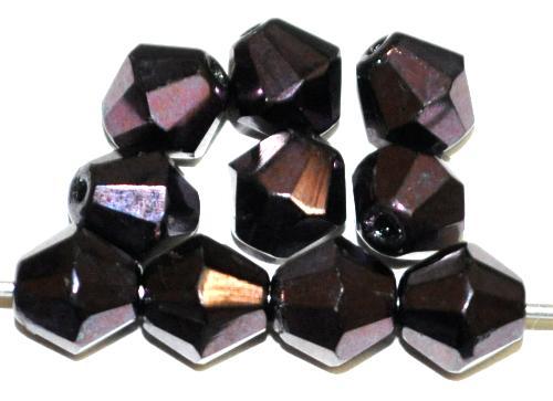 Best.Nr.:28247 facettierte Glasperlen violett metallic, hergestellt in Gablonz / Tschechien