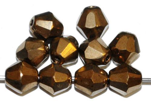 Best.Nr.:28250 facettierte Glasperlen bronzefarben, hergestellt in Gablonz / Tschechien