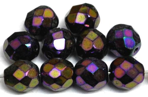 Best.Nr.:28270 facettierte Glasperlen,  metallic finish violett,  hergestellt in Gablonz / Tschechien