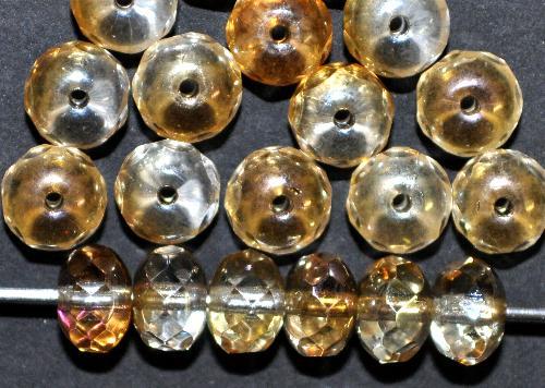 Best.Nr.:28271 Glasperlen Linse mit facettiertem Rand,  mit lüster,  hergestellt in Gablonz / Böhmen