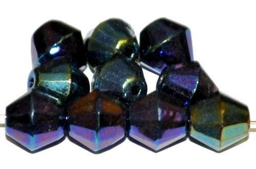 Best.Nr.:28283 facettierte Glasperlen metallic, hergestellt in Gablonz / Tschechien
