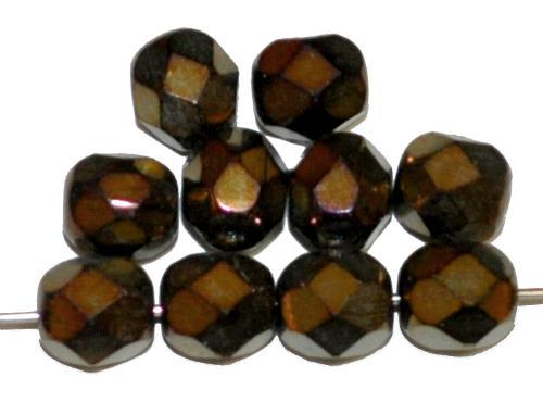 Best.Nr.:28305 facettierte Glasperlen metallic, hergestellt in Gablonz / Tschechien