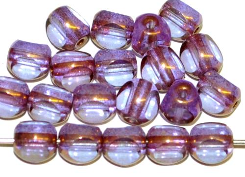 Best.Nr.:28328 Glasperlen / 3 Seiten geschliffen,  violett transp. bronziert,  hergestellt in Gablonz / Tschechien