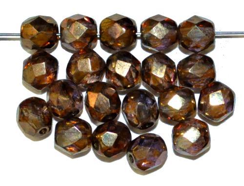 Best.Nr.:28421 facettierte Glasperlen,  kristall bronziert,  hergestellt in Gablonz / Tschechien