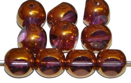 Best.Nr.:28429 Glasperlen / 3 Seiten geschliffen, violett transp. bronziert, hergestellt in Gablonz / Tschechien