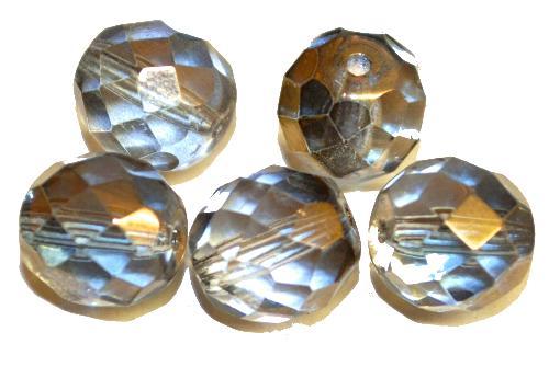 Best.Nr.:28432 facettierte Glasperlen  kistall mit metallic finish,  hergestellt in Gablonz / Tschechien