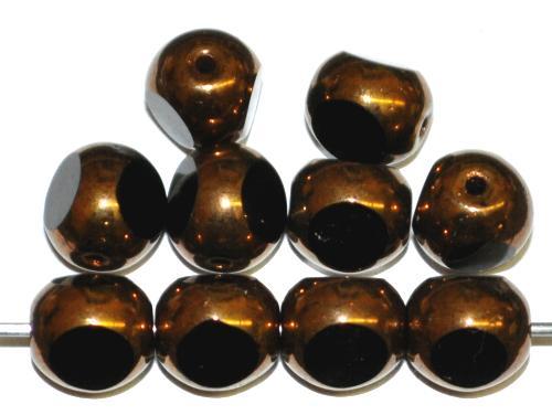 Best.Nr.:28448 Glasperlen / 3 Seiten geschliffen, schwarz bronziert, hergestellt in Gablonz / Tschechien