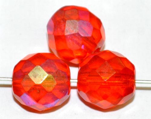 Best.Nr.:28476 facettierte Glasperlen  orange transp. mit AB,  hergestellt in Gablonz / Tschechien
