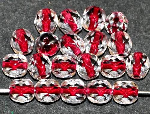Best.Nr.:29028 facettierte Glasperlen kristall mit Farbeinzug brombeer, hergestellt in Gablonz / Tschechien