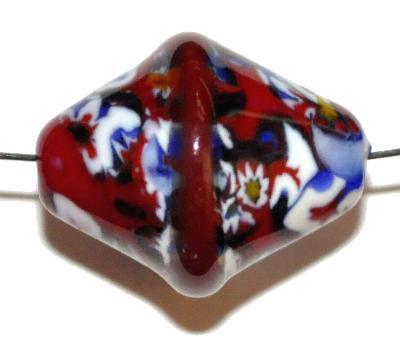 Best.Nr.:45222 Wickelglasperle Olive, Einzelstück  in den 1930/1940 Jahren in Gablonz/Böhmen von Hand gefertigt