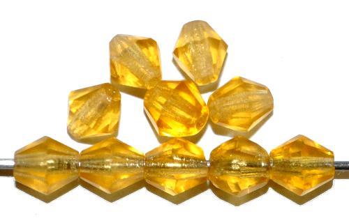 Best.Nr.:31046 mc-Schliff Glasperlen topas transp. bicon, hergestellt in Gablonz / Tschechien