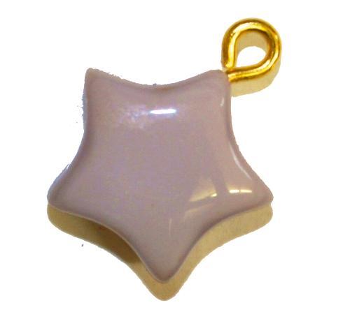 Best.Nr.:34121 Glasanhänger Stern mit Öse,  violett opak,  hergestellt in Gablonz / Tschechien