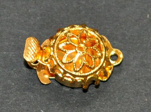 Best.Nr.:39018  Verschluss goldfarben,  1950/60 Jahren in Gablonz/Böhmen hergestellt