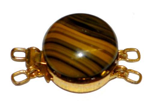 Best.Nr.:39040  Verschluss goldfarben mit einem Glasstein,  1950/60 Jahren in Gablonz/Böhmen hergestellt