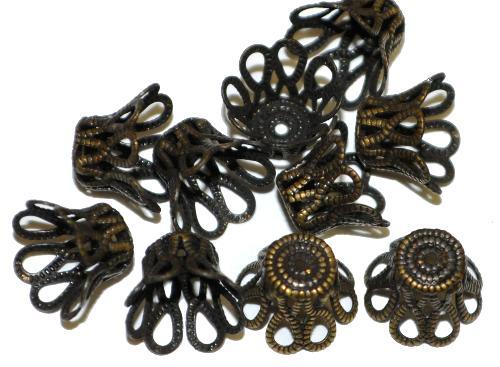 Best.Nr.:40015  Perlenkappe antikfinish,  hergestellt in Gablonz / Tschechien