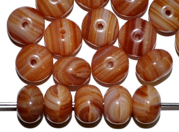 Best.Nr.:41044  Glasperlen Linsen  braun, hergestellt in Gablonz / Tschechien