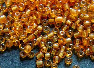 Best.Nr.:41079 Rocailles um 1930 in Böhmen hergestellt honiggelb