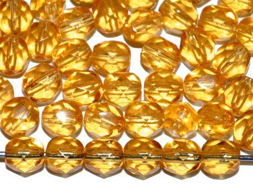 Best.Nr.:41123 facettierte Glasperlen  topas hell,  hergestellt in Gablonz / Tschechien