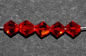 Best.Nr.:31052 mc-Schliff Glasperlen bicon rot