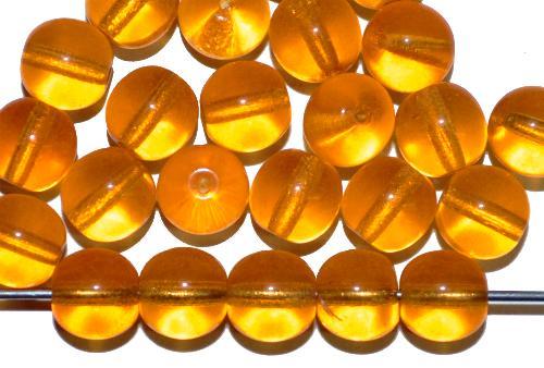 Best.Nr.:42016    Glasperlen rund  topas transp.,  in den 1940/50 Jahren in Gablonz/Böhmen hergestellt