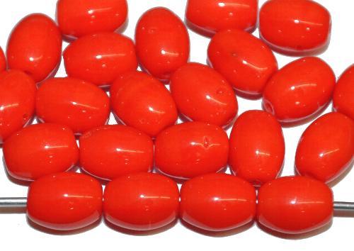 Best.Nr.:42026 Glasperlen Oliven,  orange opak B-Sortierung,  hergestellt in Gablonz / Tschechien