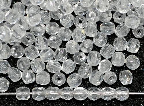 Best.Nr.:42111 facettierte Glasperlen kristall,  B-Sortierung,  hergestellt in Gablonz / Tschechien