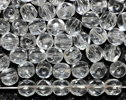 Best.Nr.:42134 facettierte Glasperlen kristall,  B-Sortierung,  hergestellt in Gablonz / Tschechien