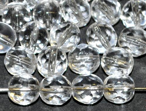 Best.Nr.:42142 facettierte Glasperlen kristall, hergestellt in Gablonz / Tschechien