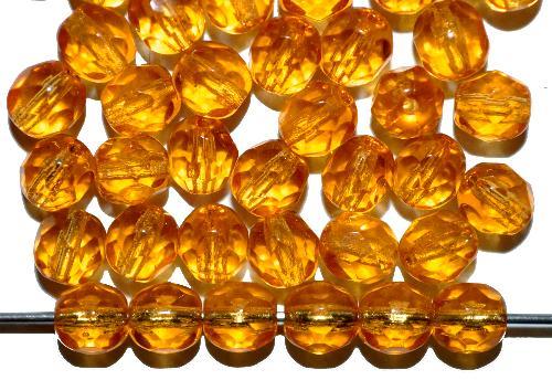 Best.Nr.:42146 facettierte Glasperlen topas, B-Sortierung, hergestellt in Gablonz / Tschechien